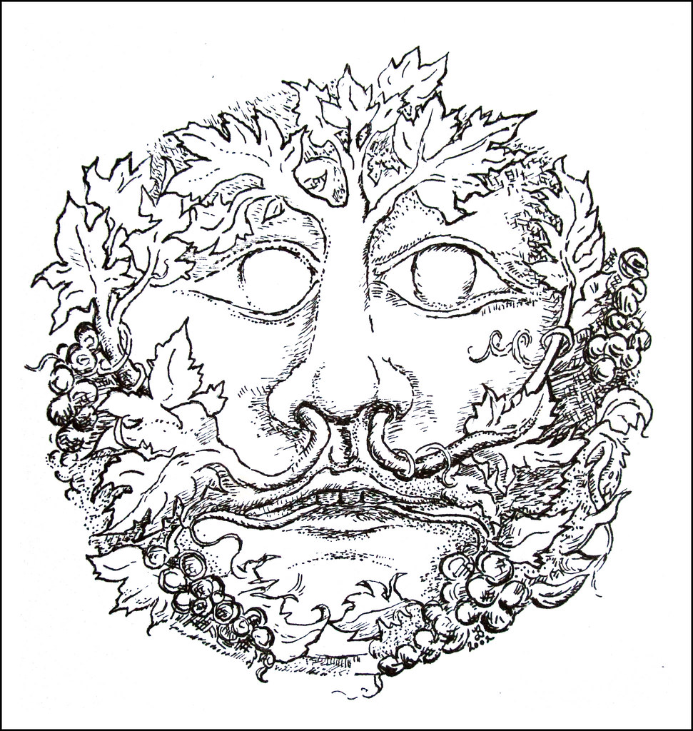green man coloring pages - photo#7