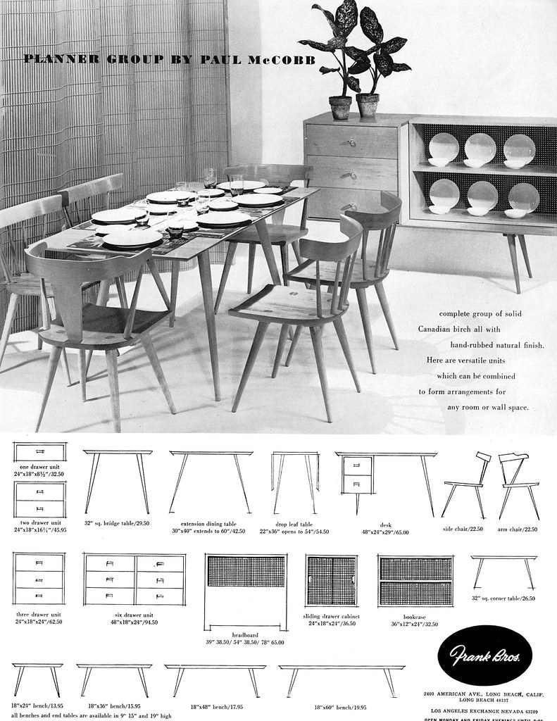 paul mccobb ad  u0026quot planner group u0026quot  1951