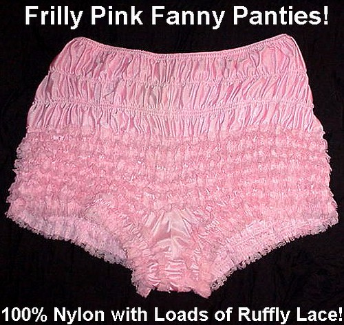 Frilly Princess Sissy Pink Lacy Vintage Adult Baby Panties -9509