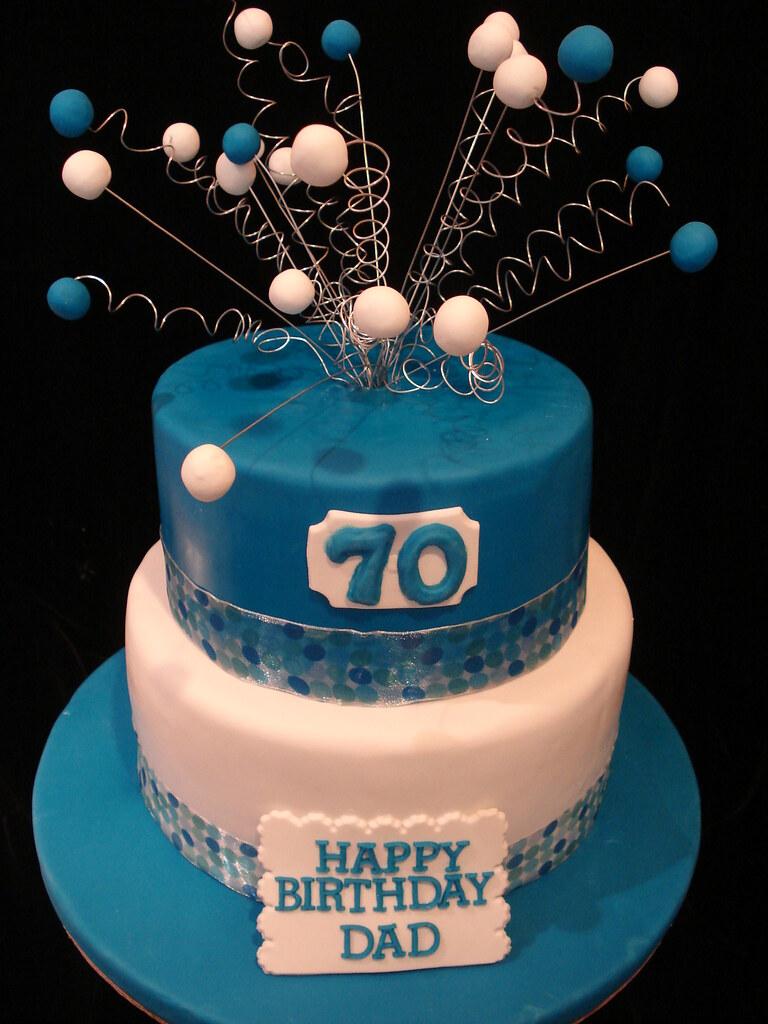 Birthday Cake Decorating Ideas Dad : Happy 70th Birthday Dad Cake Vanilla Cake with raspberry ...