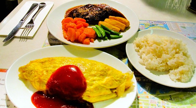 Yoshoku ya japanese style western food omu rice and for Asian and western cuisine