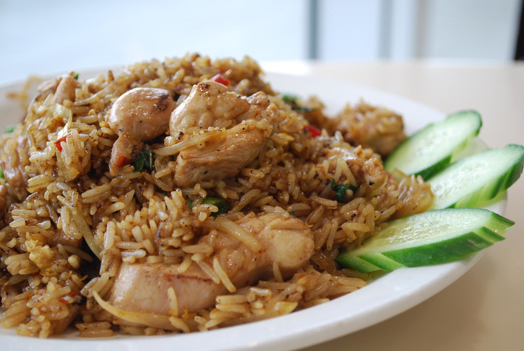 Basil Fried Rice With Chicken Mint Thai Centro Box Hill