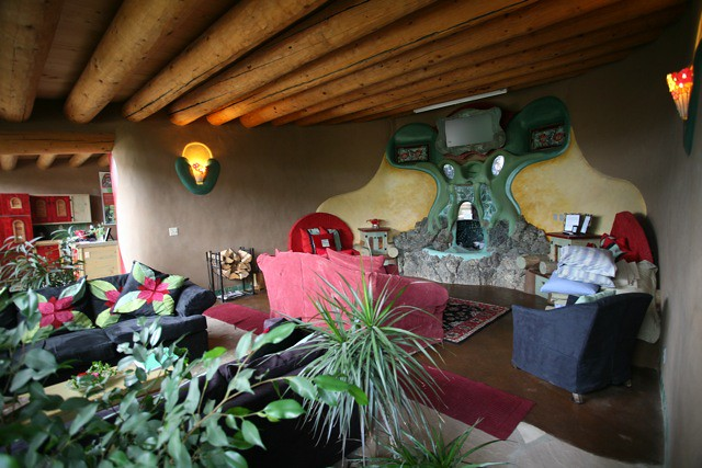 Phoenix Earthship Living Room