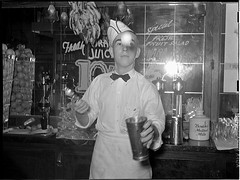 Soda jerker flipping ice cream into malted milk shakes. Corpus Christi, Texas (LOC) | by The Library of Congress