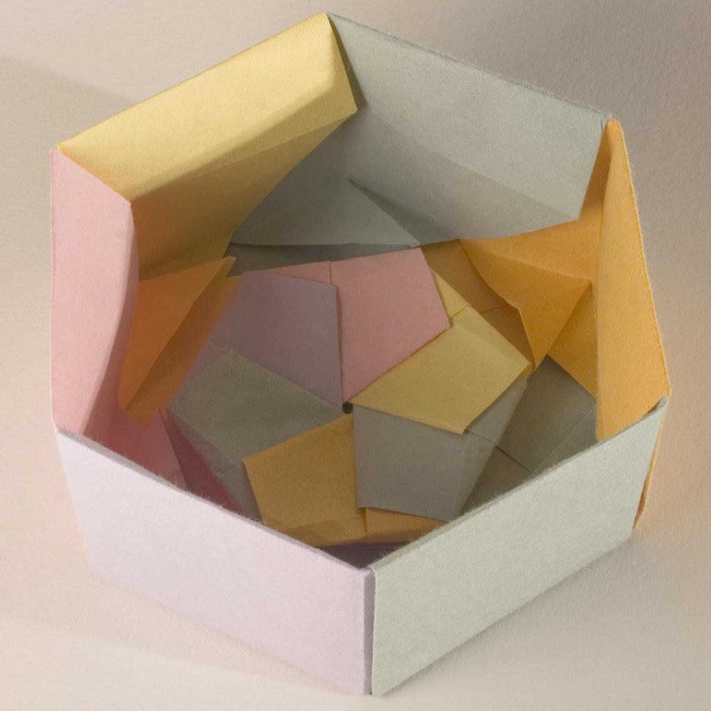Base of Decorative Hexagonal Origami Gift Box (with Lid re ... - photo#42
