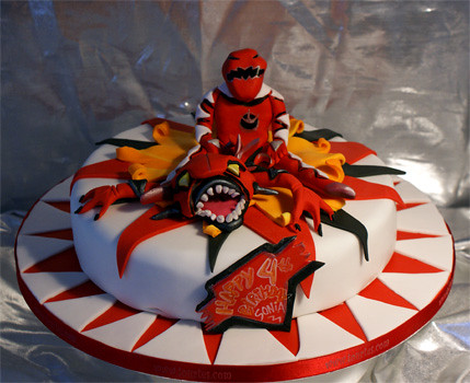Red Power Ranger Cakes Images