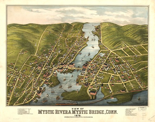 View of Mystic River & Mystic Bridge, Conn. 1879. | by uconnlibrariesmagic
