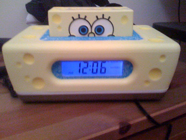 the spongebob squarepants alarm clock DirecTV sent me for … | Flickr