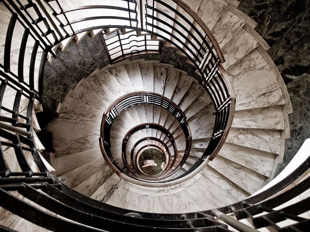 Spiral Stairs In Milano Old Building Downtown Michele