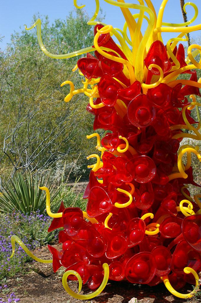 Chihuly Glass Sculpture At Desert Botanical Garden Flickr