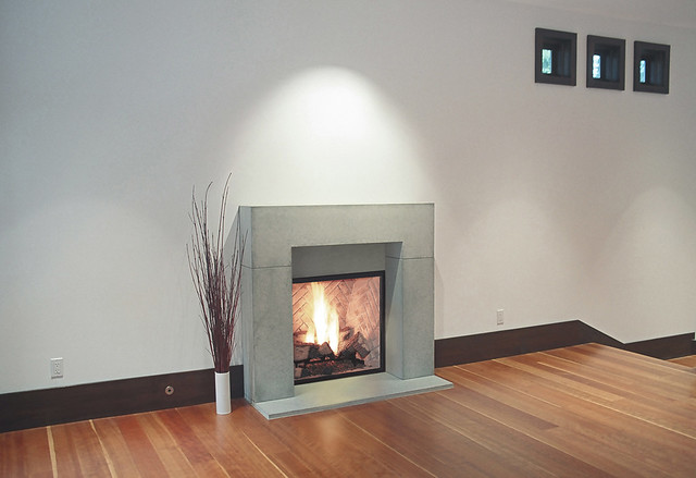 Block Portland Cast Concrete Fireplace Mantel For More Inf Flickr