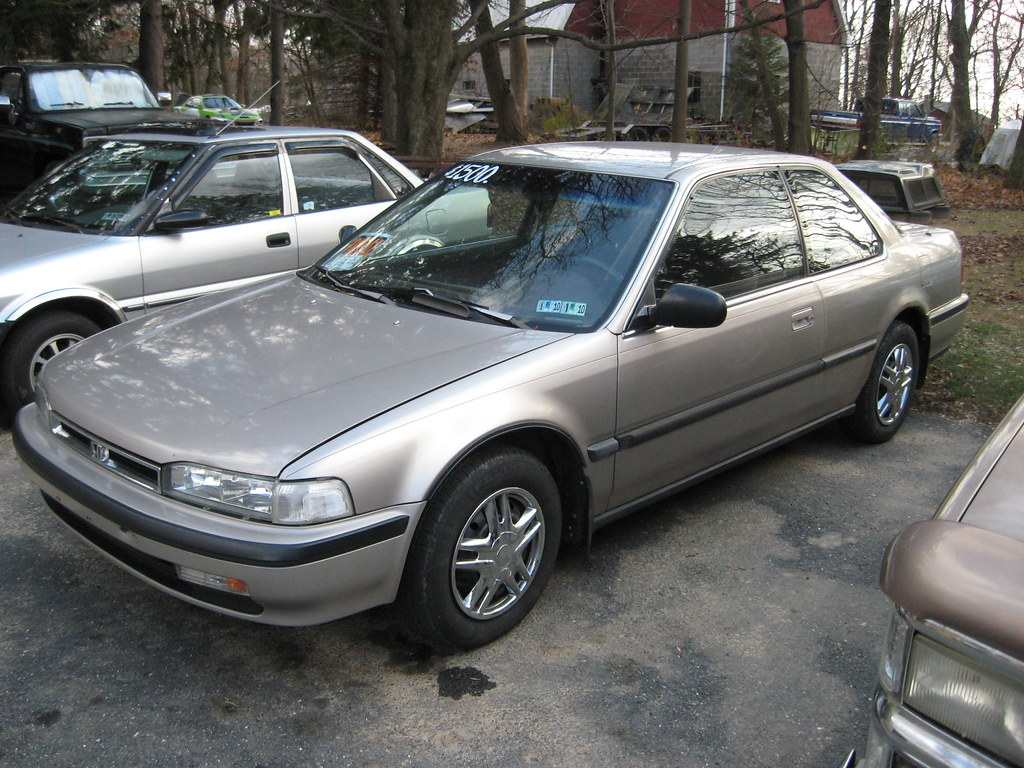 1990 honda accord 2 door coupe here is a nice little 39 90 a flickr. Black Bedroom Furniture Sets. Home Design Ideas