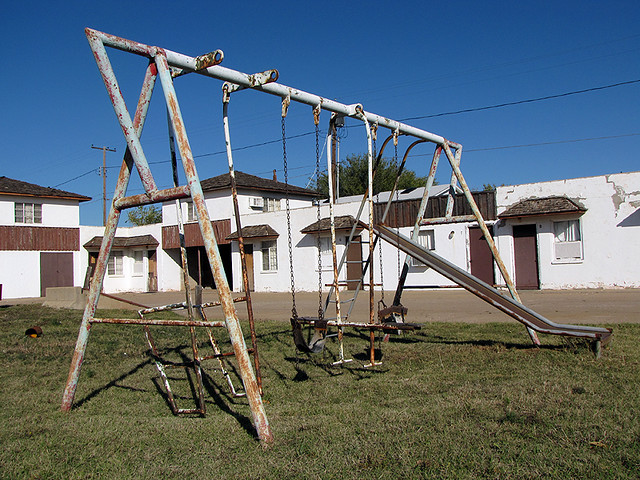 Swing Set | A decaying swing set outside of a defunct ...