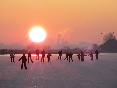 Let's ice skate to the sunset horizon | by B℮n