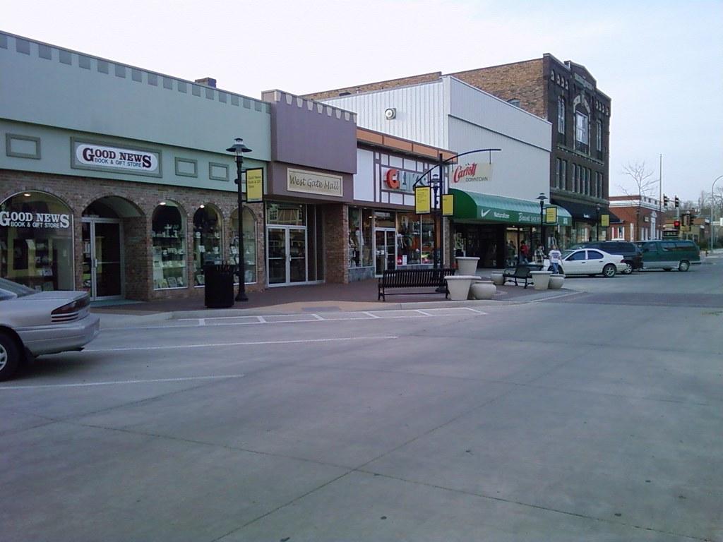 Downtown Carroll Iowa Westgate Mall Entrance Glik S B