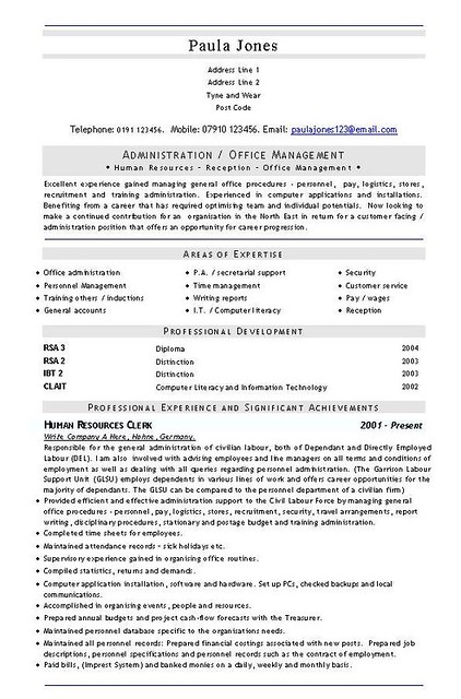 Admin Office Management CV and Resume Template | Download th… | Flickr