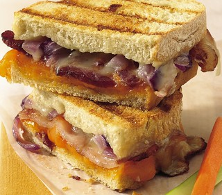 Grilled Double-Cheese and Bacon Sandwiches Recipe | by Pillsbury.com