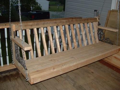 Homemade porch swing unpainted | mrannen1958 | Flickr