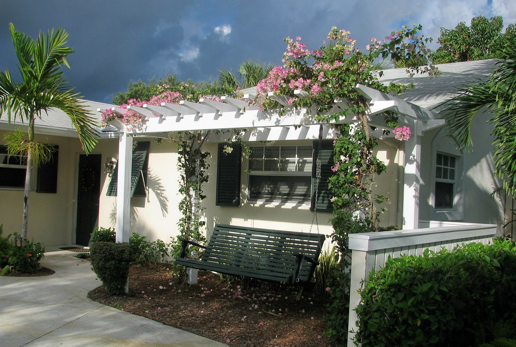 Florida beach house design pergola porch front transform for Beach house designs florida