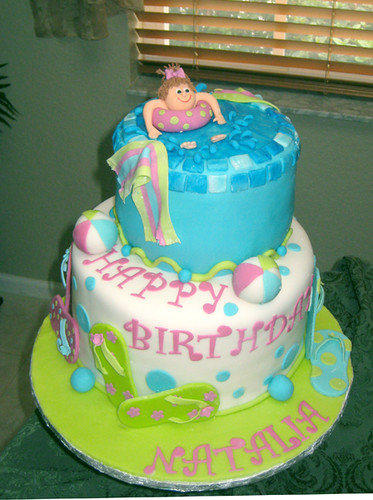 Pool party Birthday cake for one of my students from ...