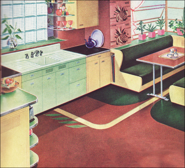 Vintage Kitchen Photography: 1941 Kitchen By American Standard