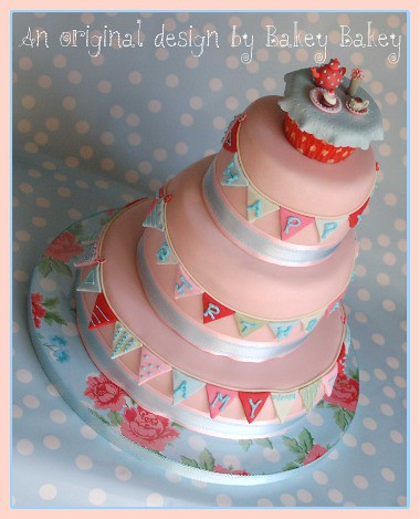 Cath Kidston Tea Party Birthday Cake Our first ever ...