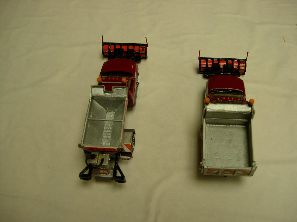 Matchbox Ford F 550 Snow Plow Trucks Two Custom Built