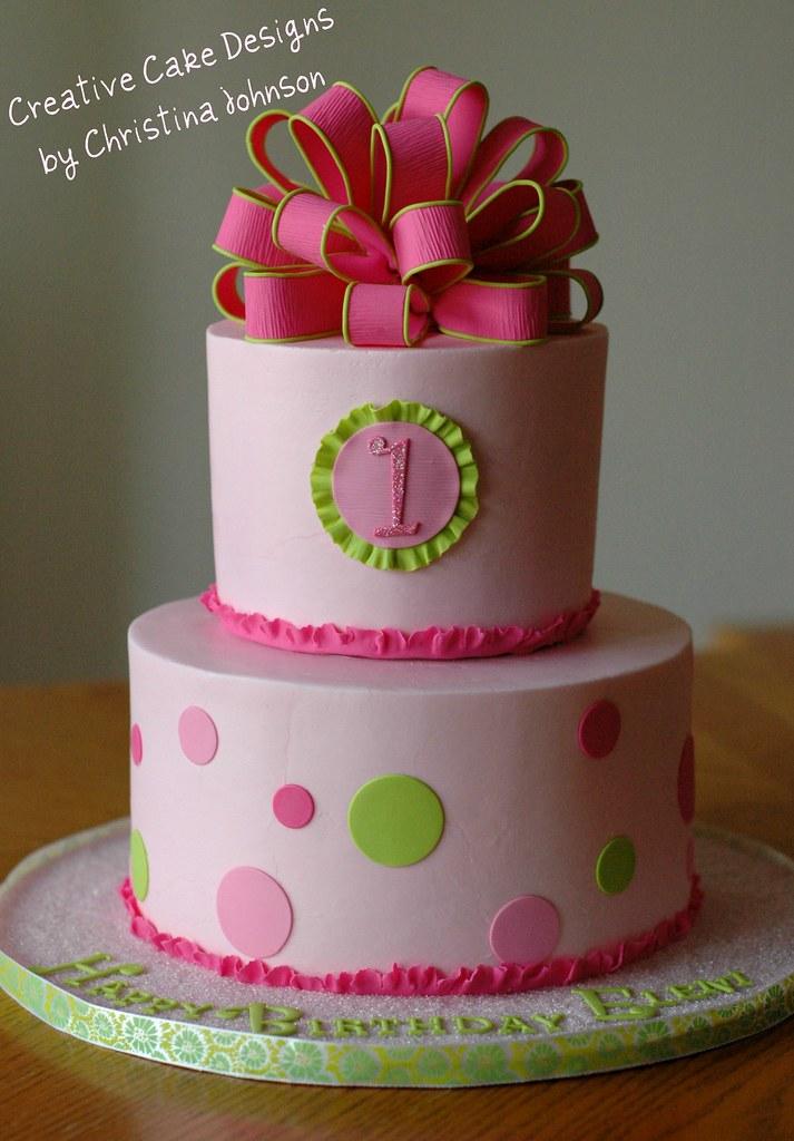 1st Birthday Cake Buttercream Cake With Fondant Details