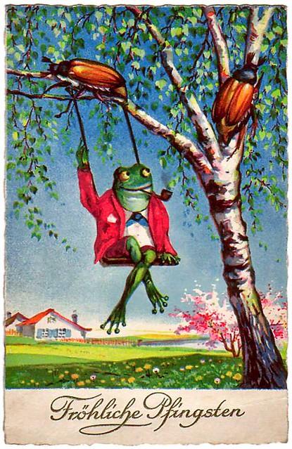 Hurry Summer   vintage German postcard celebrating my new ...