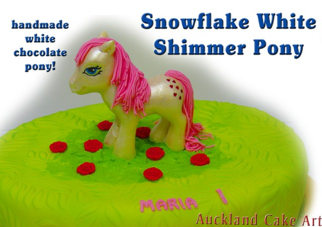 MY LITTLE SNOWFLAKE CHOCOLATE PONY CAKE shimmering edible Flickr