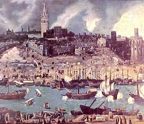 Puerto De Sevilla En El Siglo Xv Nlopver Flickr