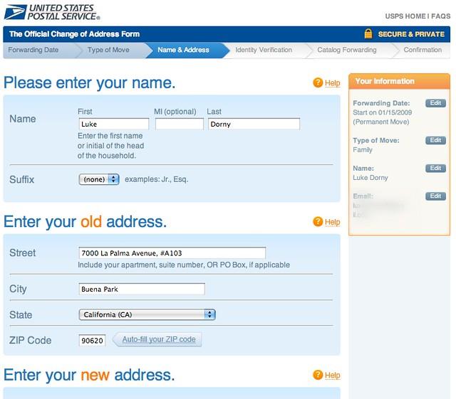 Us postal change address form flickr photo sharing for Us magazine address change