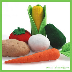 Bugga Bugs Vegetables Felt Play Food Pattern | by Bugga Bugs