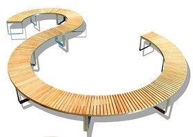 Boston Teak Curved Bench Outdoor More At Www