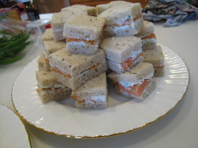 Tea Sandwiches: Salmon | Smoked salmon with dilled cream che ...