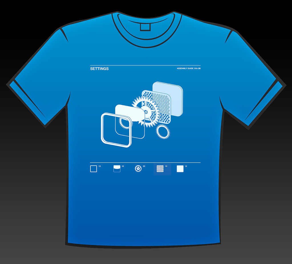 Wwdc shirt 39 exploded 39 iphone icon t shirt Apps to design t shirts