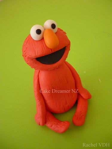 Elmo Fondant Cake Topper
