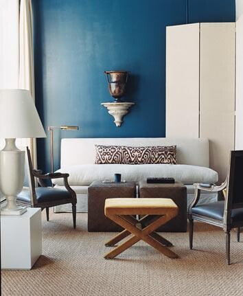 Modern Blue White Living Room Galapagos Turquoise By
