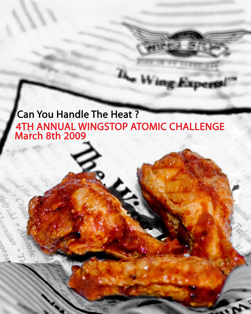 Wingstop Atomic Wing Challenge Promotional Poster That I