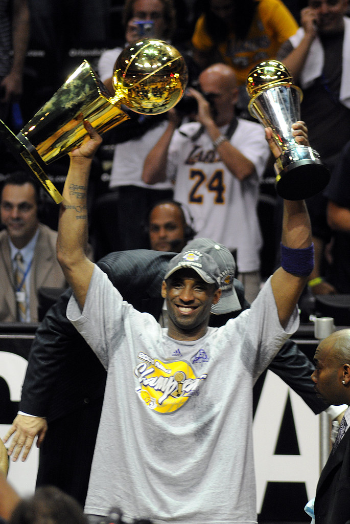 Kobe Bryant with his championship trophy | NBA Finals, Game … | Flickr