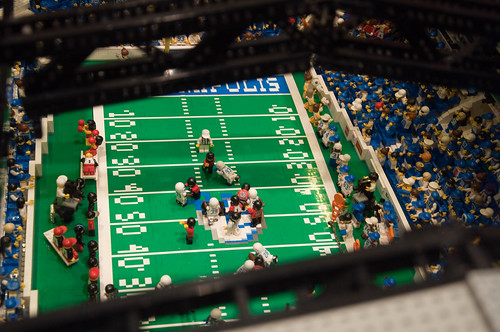 Brickworld 2009- football stadium | by kevitra