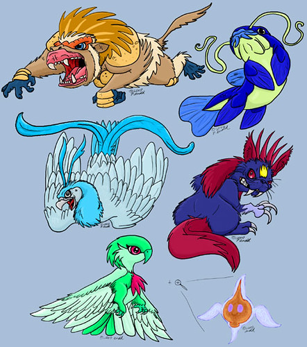 6 22 09 My Quot Pokemon Platinum Quot Team Finally Digital Art Flickr