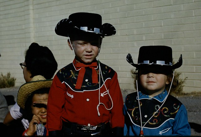 Kids In Western Clothes Tucson Arizona Rodeo Parade 1959