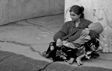 homeless woman with her child katheirne hitt flickr