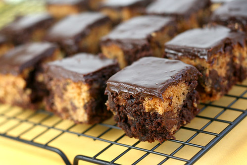 Chocolate Chip Cookie Dough Brownies | by Bakerella