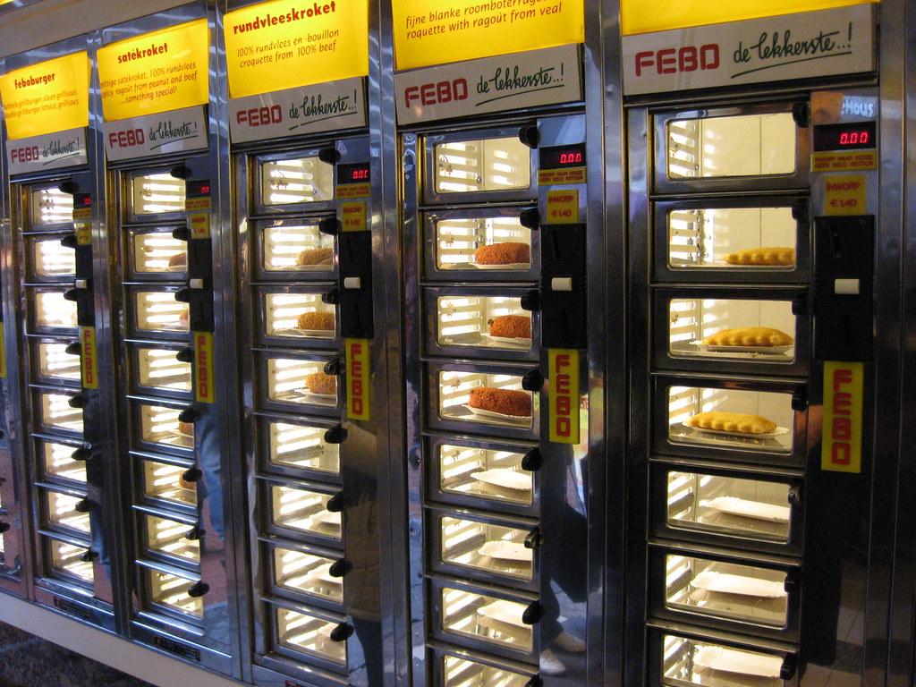 FEBO, vending machine street food in Amsterdam