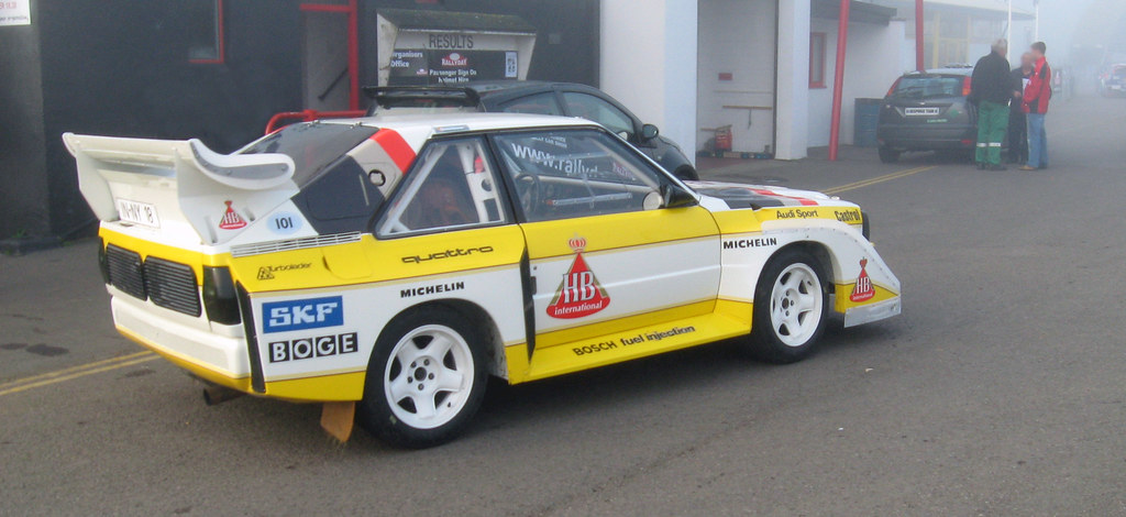 How To Flip Cars >> Audi Quattro | Audi Quattro Group B Rally Car (yellow and ...