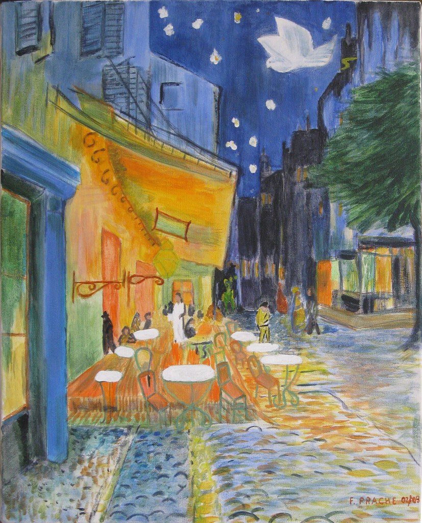 terrasse de caf le soir 1888 vincent van gogh flickr. Black Bedroom Furniture Sets. Home Design Ideas