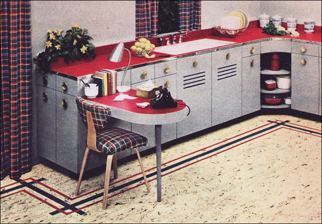 1950s Kitchen Design 1950s kitchen design - nairn linoleum | source: decorating p… | flickr