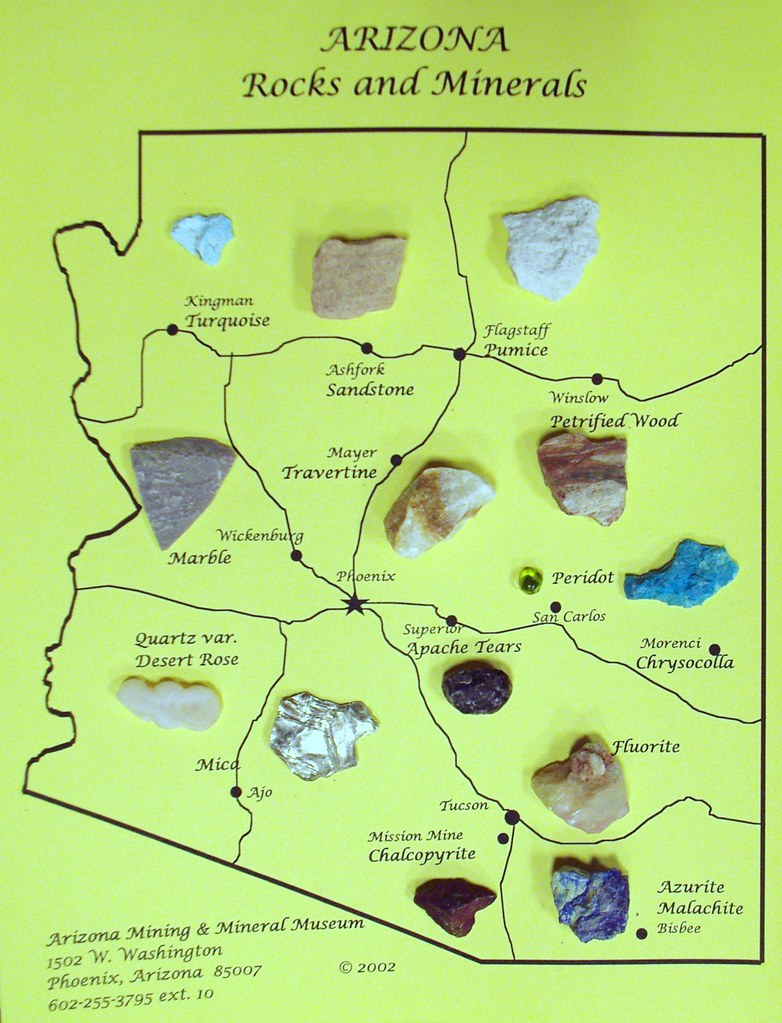 Az Rocks And Mineral Map We Went To The Az Mining